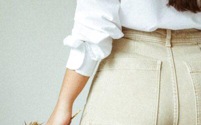Smukke sandfarvede bukser til kvinder